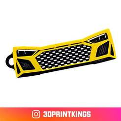Download free 3D printing models Audi R8 - Key Chain, 3dprintkings
