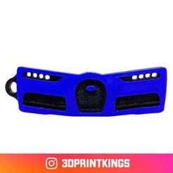 Télécharger objet 3D gratuit Bugatti Chiron - Porte-clés, 3dprintkings