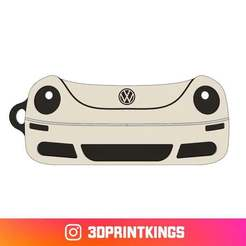 Download free STL file VW New Beetle - Key Chain • Design to 3D print, 3dprintkings