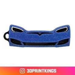Thingi-Image.jpg Download free STL file Tesla Model S - Key Chain • 3D print template, 3dprintkings