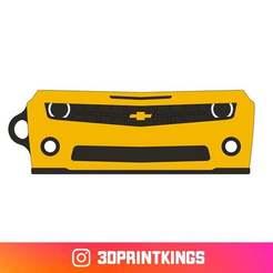 Download free 3D printer files Chevrolet Camaro (2009) - Key Chain, 3dprintkings