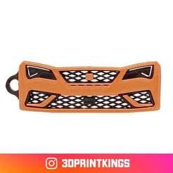 Download free STL file Seat Leon Cupra R - Key Chain • 3D printer model, 3dprintkings