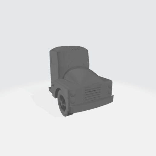 Download free STL files 1950's Truck Cab Modular - General, BruceNscale