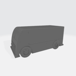 Delivery_Van_X17.76_Y8_Z7.83.png Download free STL file 1950's Delivery Van • Template to 3D print, BruceNscale