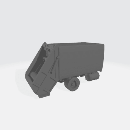 Download free 3D printing templates 1950's Garbage Truck - Modular, BruceNscale