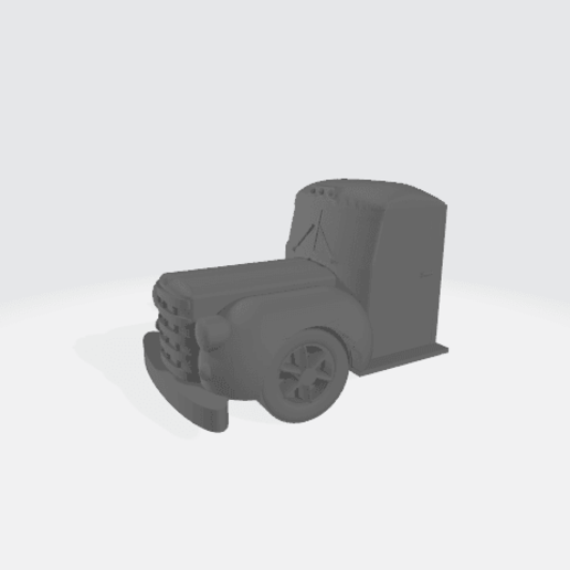 Download free 3D printing templates 1940'2 Truck Cab Modular - Diamonte, BruceNscale