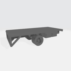 """Imprimir en 3D gratis Camión de cama plana de 17' 6"""" de carrocería, BruceNscale"""