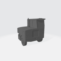 1954_Kenworth_Halfcab_X6.75_Y8_Z8.91.png Download free STL file 1950's Narrow cab over engine semi • 3D printing template, BruceNscale