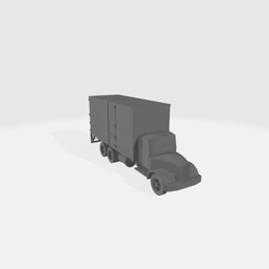 Straight_Truck_Double_Axle.png Download free STL file Double Axle Straight Truck • 3D printing template, BruceNscale