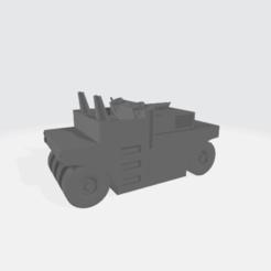 Road_Roller_H15.88_W13.45_L29.51.png Download free STL file Rubber Tire road roller • 3D printable design, BruceNscale