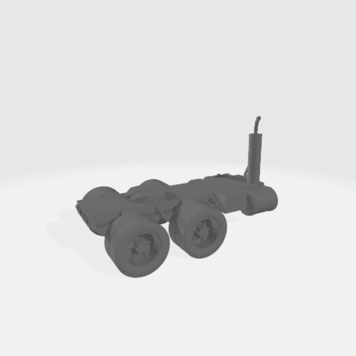 Download free 3D printing models Semi Truck Bed Modular - Double Axle, BruceNscale