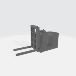 Fork_Lift_X10.25_Y3.33_Z5.5.png Download free STL file Battery powered fork lift • 3D print template, BruceNscale
