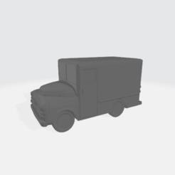 1953_Milk_Truck.png Download free STL file 1953 Dodgy Milk Truck • 3D printing design, BruceNscale