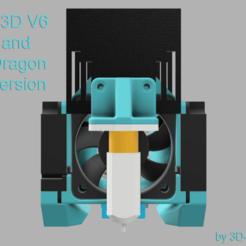 """TMM_by_3D-ONE_Mount_Front_Full_Text.png Télécharger fichier STL gratuit TwoTrees Sapphire Plus/Pro E3D V6, Monture Dragon """"The Mint Mount"""" (La Monture de la Menthe) • Design pour imprimante 3D, 3D-ONE"""