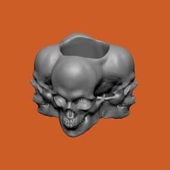 SKULLRECIPIENT2.jpg Télécharger fichier STL Conteneur à crâne • Modèle à imprimer en 3D, chazz1981