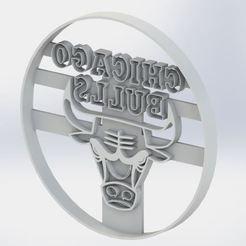 chicago bulls.JPG Download STL file Chicago Bulls Cookie Cutter • Design to 3D print, jjperez2010
