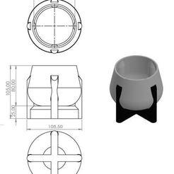 Download 3D printer designs Modern design pot - Planter, jjperez2010