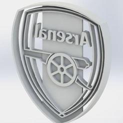 Descargar archivo STL cortante de galletitas Arsenal - Cookie Cutter • Diseño para imprimir en 3D, jjperez2010