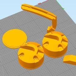 Captura12.JPG Download STL file Cougar Bunker - mouse bungee (almost) • Design to 3D print, jjperez2010