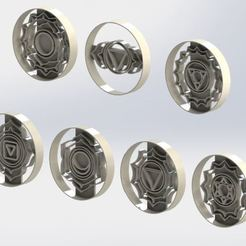 7chakras.JPG Download STL file cookie cutter 7 chakras - om - fatimas hand - Cookie Cutter • 3D printing object, jjperez2010