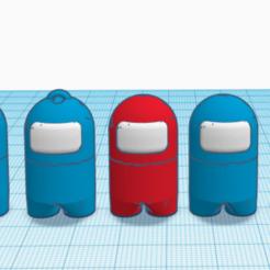 AMG 5.PNG Télécharger fichier STL Porte clés Among us • Modèle imprimable en 3D, JoceGab