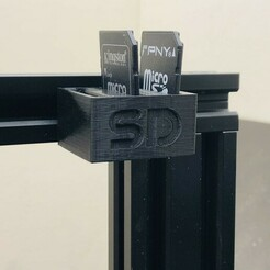 IMG_5249.jpg Télécharger fichier STL gratuit Rangement individuel SD card Creality Ender 3 Pro • Objet imprimable en 3D, pika06