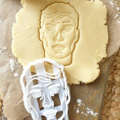 PKY2.jpg Download STL file Peaky Blinders Cookie Cutter - Thomas Shelby Face • Design to 3D print, katieuk95