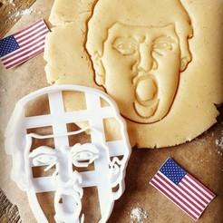 Screenshot_20200523-214512_Instagram.jpg Download STL file Donald Trump Cookie Cutters • Template to 3D print, katieuk95