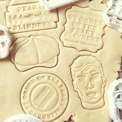PKYALL.jpg Download STL file Peaky Blinders Cookie Cutters - FULL SET! • 3D printer design, katieuk95