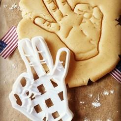 Screenshot_20200523-214546_Instagram.jpg Download STL file Donald Trump Hand Gesture Cookie Cutter • 3D printing object, katieuk95