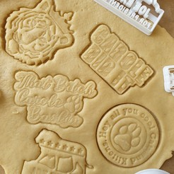 Download STL file Tiger King Cookie Cutter - FULL SET (Get all 5 Cutters!), katieuk95