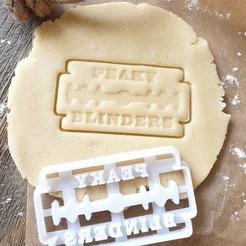 PKY4.jpg Download STL file Peaky Blinders Cookie Cutter - Peaky Razor • 3D printing design, katieuk95