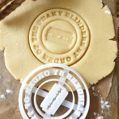 "PKY3.jpg Download STL file Peaky Blinders Cookie Cutter - ""By Order"" Classic Cookie Round • 3D printing model, katieuk95"