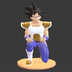bardok2.ps4.4.jpg Download STL file Bardok Minus PS4 Controller Stand - Dragon Ball • 3D printer template, lunatirado