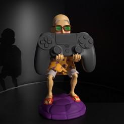 roshi.tortu2.jpg Download STL file DragonBall, Kame Sennin PS4 Controller Stand • 3D printable design, lunatirado