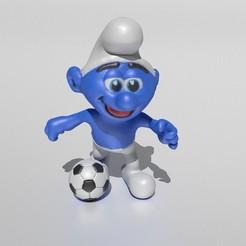 cover.jpg Download STL file Smurf with a football • 3D printable template, Murmyav