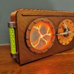 Télécharger fichier STL steampunk, horloge à disque à plasma industriel • Design imprimable en 3D, Mondo
