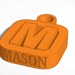 mason.png Download free STL file ben,s builds keyfob M mason • 3D printable object, Mondo