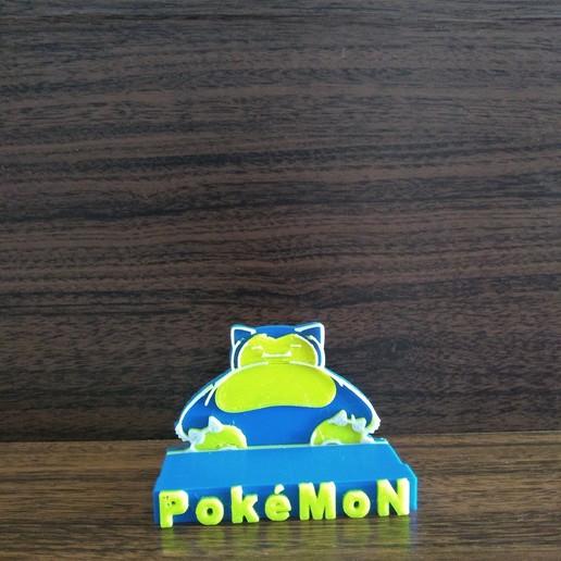 IMG_20200422_111430388.jpg Télécharger fichier STL gratuit SNORLAX CARD BASE POKEMON • Design pour imprimante 3D, CratozZero