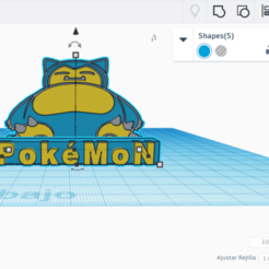 Download free 3D printing designs SNORLAX CARD BASE POKEMON, CratozZero