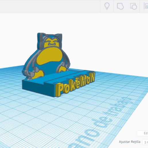 VSSD.png Télécharger fichier STL gratuit SNORLAX CARD BASE POKEMON • Design pour imprimante 3D, CratozZero