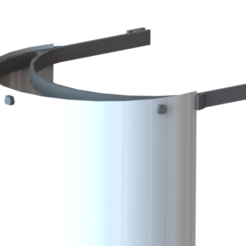 """Descargar modelos 3D gratis Protector facial (para usar con película transparente de 3 agujeros de 8.5x11"""") (COVID-19 / Máscara de Coronavirus), 3DMakerMarket"""