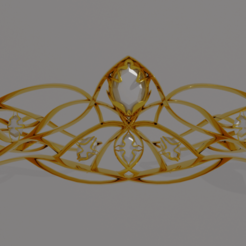 Corona vista frontal.png Download STL file Gold tiara • 3D printer template, empren3d