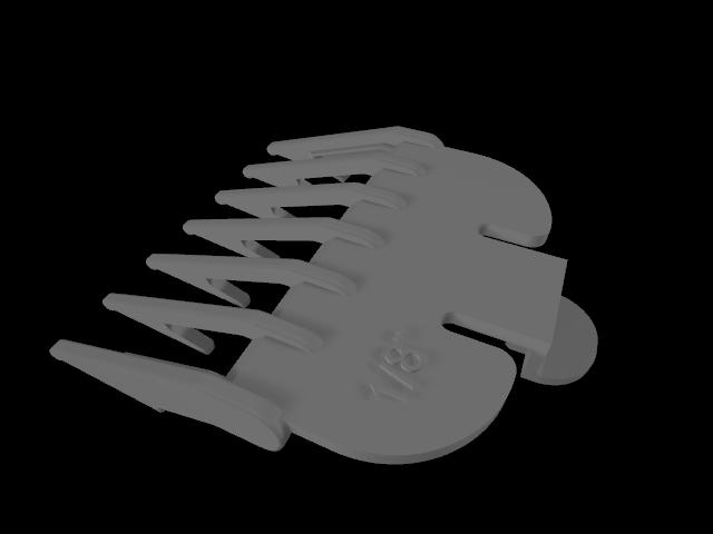 """b.png Télécharger fichier STL gratuit Wahl Clipper 1/8"""" Peigne • Objet pour imprimante 3D, JC4"""