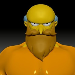 Download 3D printer model Mr Burns The New God, Municipal_Soldier