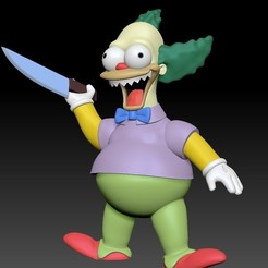 1c.jpg Download STL file Krusty Doll Damn the Simpsons Horror House • 3D printing model, Municipal_Soldier