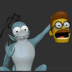 Download 3D printing files The Simpsons Gremlin, treehouse of horror, Municipal_Soldier