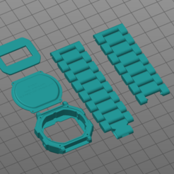 Captura.PNG Download free STL file CASIO WATCH • Template to 3D print, JL_3DPRINT