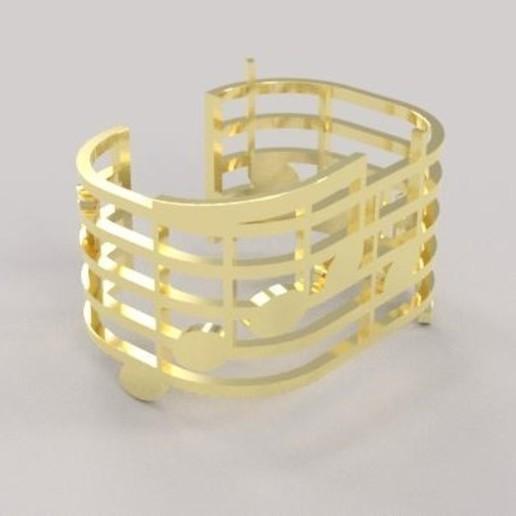 Télécharger fichier STL gratuit Music bracelet  • Modèle à imprimer en 3D, M3Dr