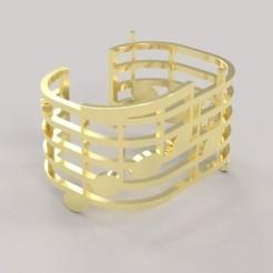 Télécharger modèle 3D gratuit Music bracelet , M3Dr
